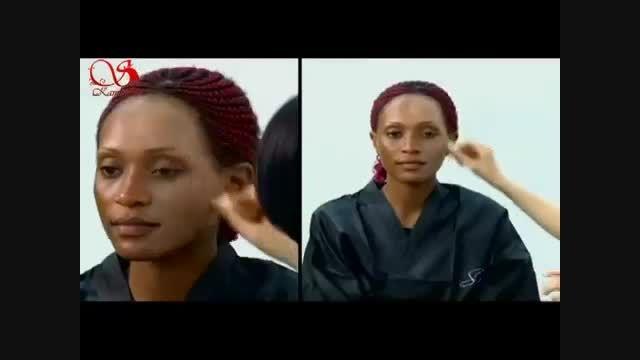آموزش جدیدترین مدل آرایش عروس عربی و خلیجی2015, آموزش آ