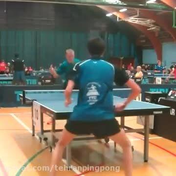 اتفاق عجیب در رالی یک مسابقه پینگ پنگ عجیب و غریب