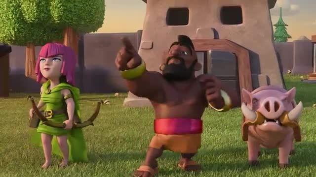 انیمیشن clash of clans (بالن)