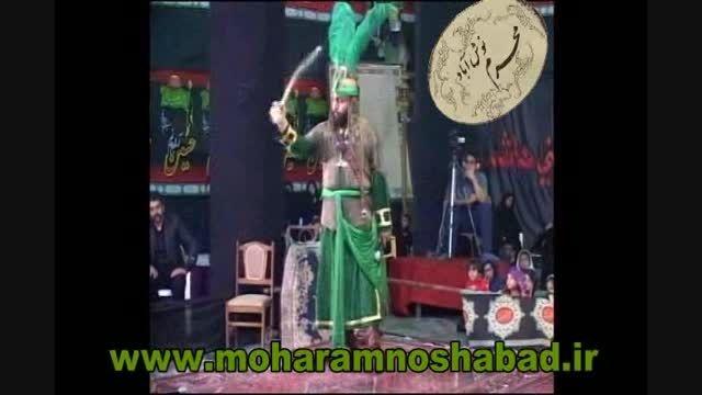 فیلم تعزیه رجز خوانی حضرت عباس،هیئت ابوالفضل نوش آباد