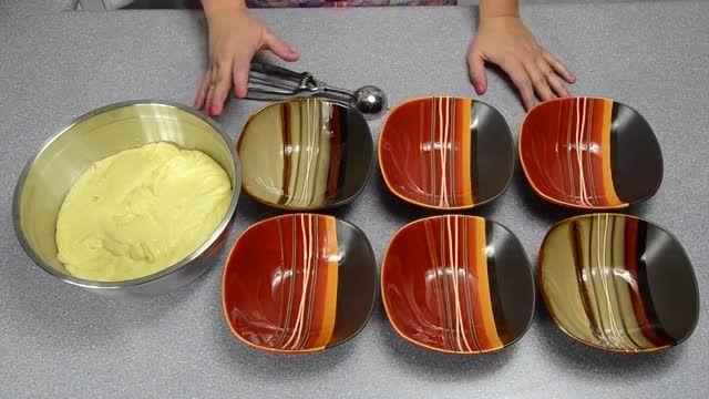 ♥ آموزش پخت کیک رنگین کمونی با بیسکوییت