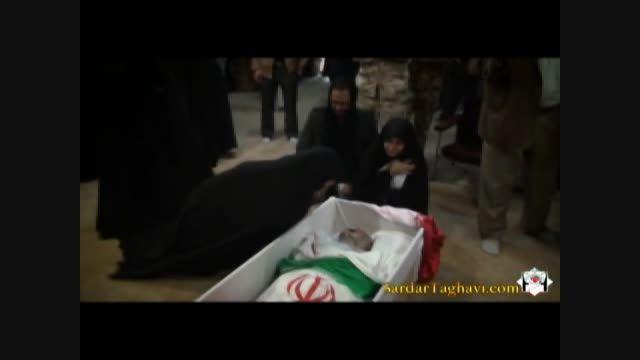 وداع خانواده سردار تقوی با پیکر پاک شهید
