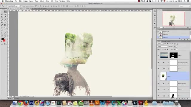Double Exposure Portrait Effect - Tutorial Preview