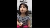 آواز خوانی دختر کوچولو خیلی ناز