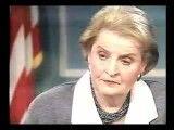 حقوق بشر آمریکایی؛ اظهار نظر مادلین آلبرایت وزیر خارجه سابق آمریکا درباره مرگ 500000 کودک عراقی