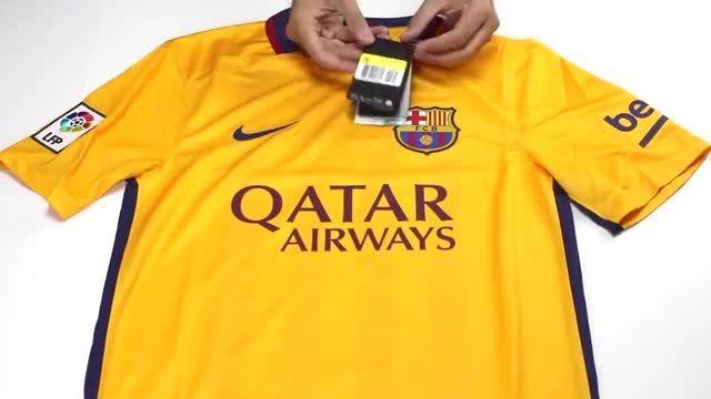 پیراهن دوم بارسلونا Barcelona 2015-16 Away Soccer Jerse