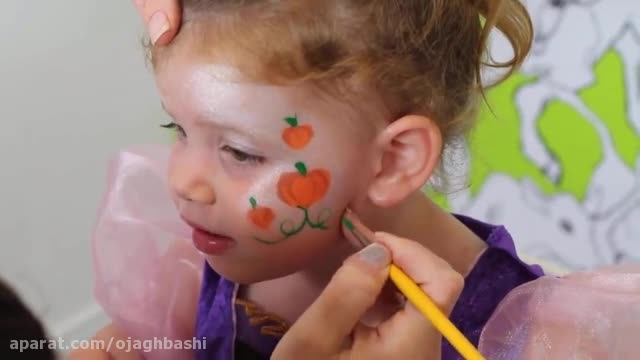 نقاشی روی صورت کودکان ؛ مدل 3