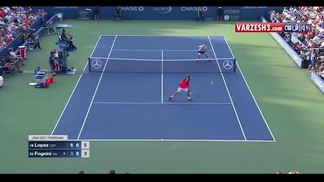 ضربه به توپ زیبا و دیدنی در تنیس - امروز آنلاین