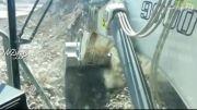 بیل مکانیکی.لیبهر 9800 کوه آهنی در معادن