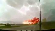 لحظه سقوط هواپیما