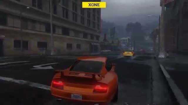 مقایسه گرافیک بازی زیبای G..V در PS4 و XBOX ONE