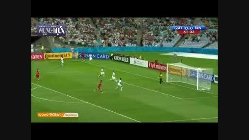 گل سردارآزمون به قطر،زیباترین گل تاریخ فوتبال ملی ایران