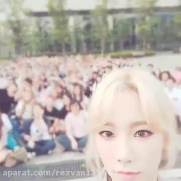 SNSD Taeyeon with fans - instagram