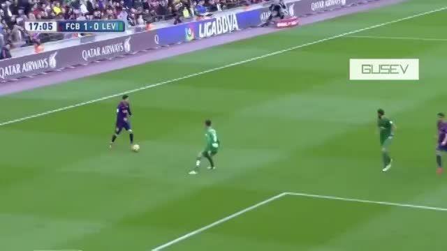 خلاصه ی هفته 23 لالیگا بارسلونا 5-0 لوانته