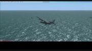 فرود هواپیمای هرکولس سی 130 بر عرشه ناو در شبیه ساز پرواز