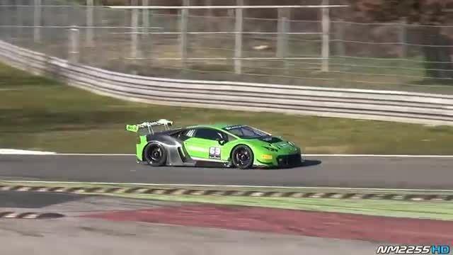 لامبورگینی Huracan GT3 با صدای خوفش در پیست Monza