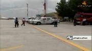 فرود اضطراری هواپیما در زاهدان(بدون یک چرخ)