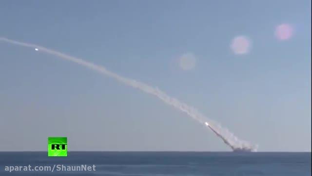 موشک باران تروریست های داعش از زیردریایی روسیه مدیترانه