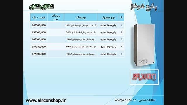 تخفیف لیست قیمت پکیج دیواری ایران رادیاتور