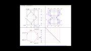 بر خورد یک منشور منتظم 5 ضلعی با منشور منتظم چهار ضلعی