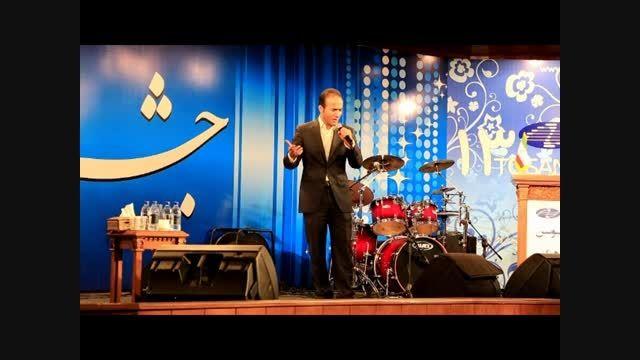 طنز و شوخی با شهرام شکوهی - تقلید صدای جالب حسن ریوندی