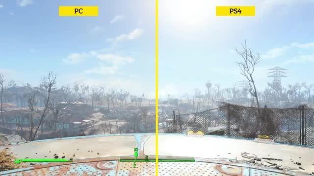 مقایسه گرافیکی Fallout 4 بین PS4, Xbox One و PC