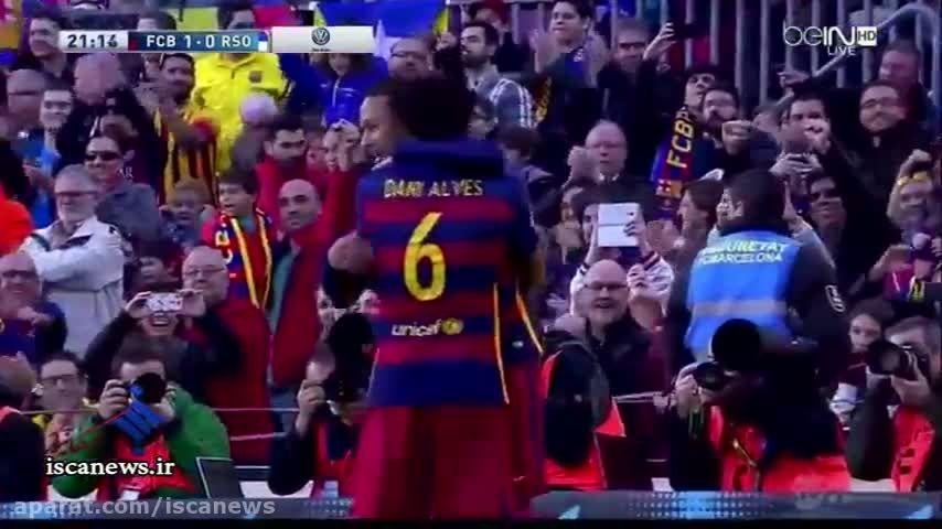 خلاصه بازی : بارسلونا 4 - 0 رئال سوسیداد