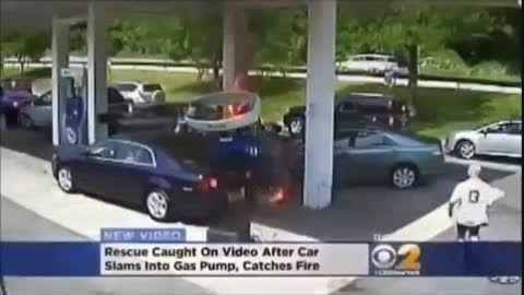 حادثه در پمپ بنزین
