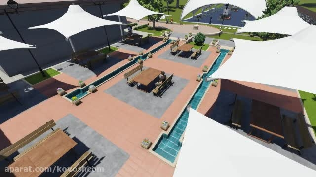 کاوشکام - طراحی جدید سقف چادری رستوران - آلاچیق چادری