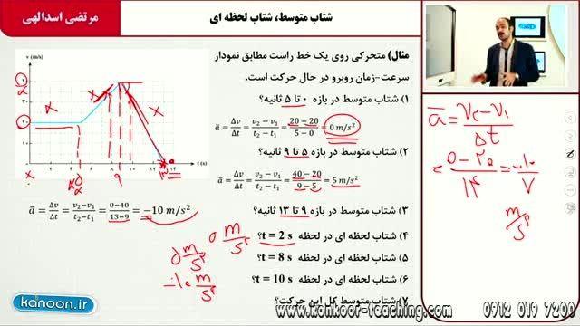 فیزیک۲-مبحث حرکت با شتاب ثابت-مهندس اسدالهی-قسمت۱