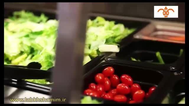 غذاخوری سلف سرویس با بیش از 35 نوع غذا