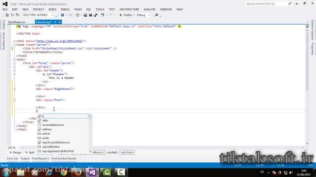 فیلم آموزشی HTML , CSS جلسه ی دوم مدرس محمد بخشنده