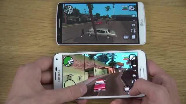 galaxy s5 vs LG g3 gaming test