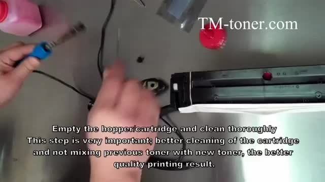 آموزش شارژ کارتریج پرینتر رنگی 200 HP LaserJet Pro