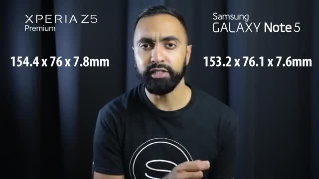 مقایسه گوشی های سامسونگ Note 5 و سونی Z5 Premium