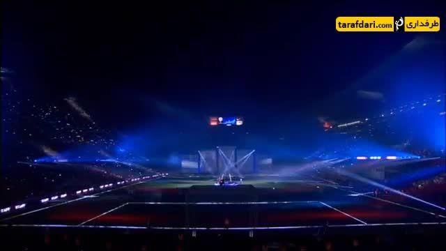 مراسم جشن قهرمانی بارسلونا با حضور ستارگان