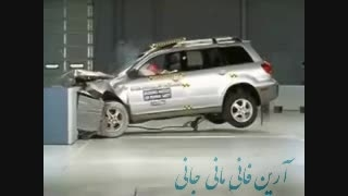 تست تصادف Mitsubishi Outlander crash