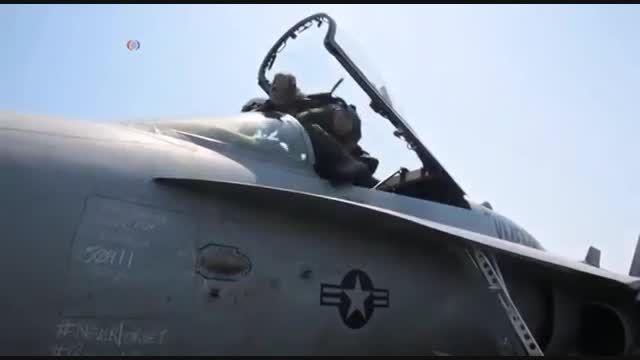 نقش ناو امریکایی تئودور روزولت در مبارزه با داعش