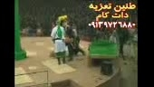 ورود شیر و قیس هندی در تعزیه امام حسین(ع) 1390 قودجان