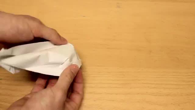 ساخت قایق ساده با کاغذ