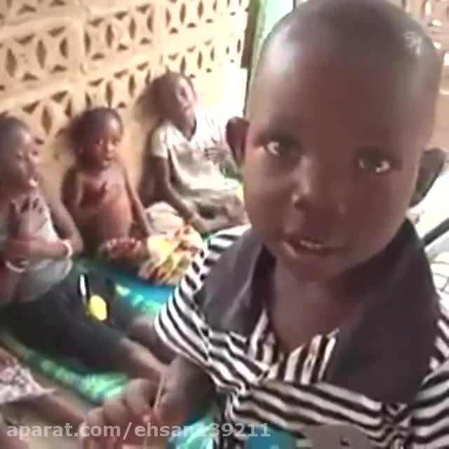 سینه زنی کودکان آفریقایی برای امام حسین (ع)
