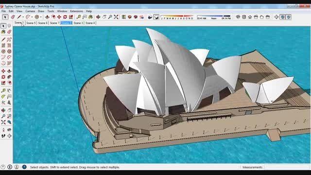 مدل 3 بعدی اسکچاپ اپرای سیدنی