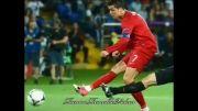 کریس رونالدو در یورو 2012 به همراه تیم ملی پرتغال