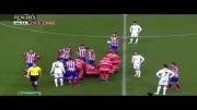 برخورد شدید کریستیانو رونالدو با مدافع اتلتیک مادرید