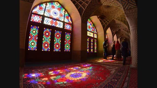 تایم لپس : گردشگران خارجی مسجد نصیرالمک شیراز