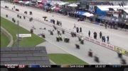 صحنه حادثه در مسابقه موتورسواری!!