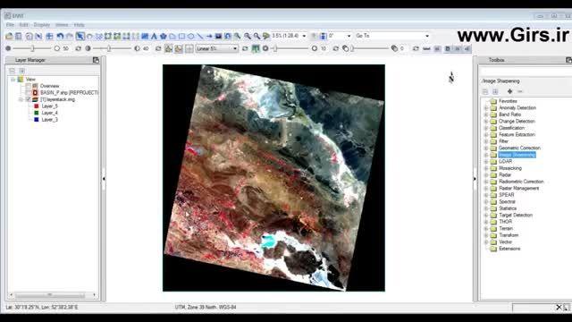 در این آموزش ویدئویی به روش برش تصاویر ماهواره ای در نر