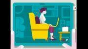 طرز صحیح نشستن پشت کامپیوتر