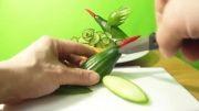 شماره2-میوه آرایی خیار به شکل پرنده!!