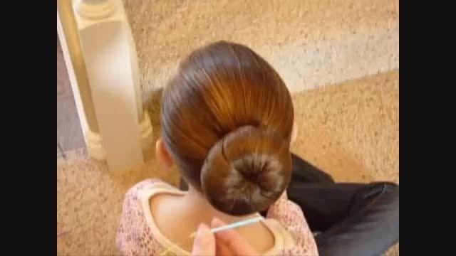 مدل موی گوجه ای با روبان
